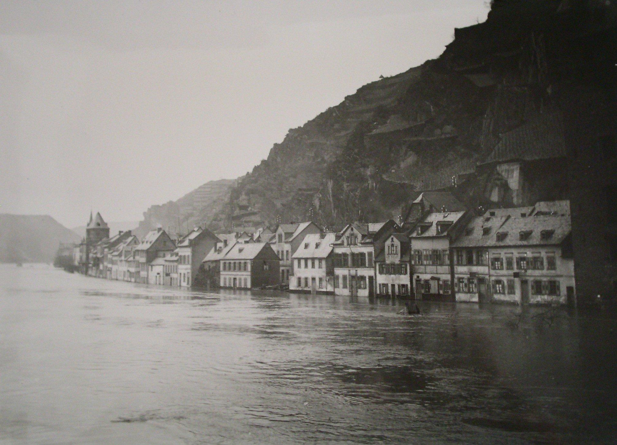 St. Goarshausen - Hochwasser Obertal